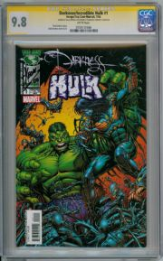 The Darkness Incredible Hulk #1 CGC 9.8 Signature Series Signed Dale Keown Top Cow comic book